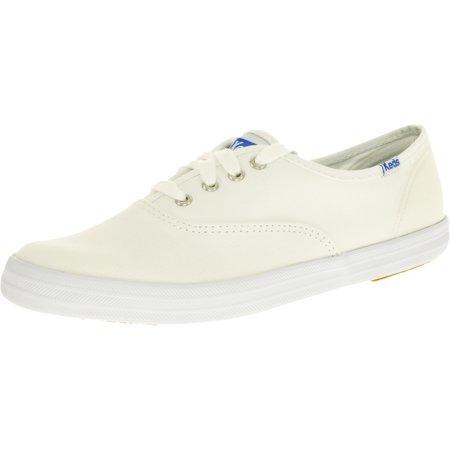 1379affeadf8b Keds - Keds Women s Champion Originals White Ankle-High Fabric Flat Shoe -  6.5M - Walmart.com