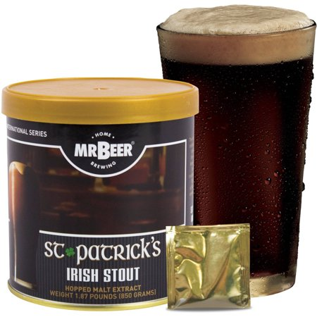 Mr. Beer Irish Stout 2 Gallon Craft Beer Refill Kit, Contains Hopped Malt Extract Designed for Consistent, Simple and Efficient (Stegmaier Beer)