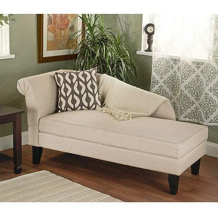 Leena storage chaise beige - Chaise tissu beige ...