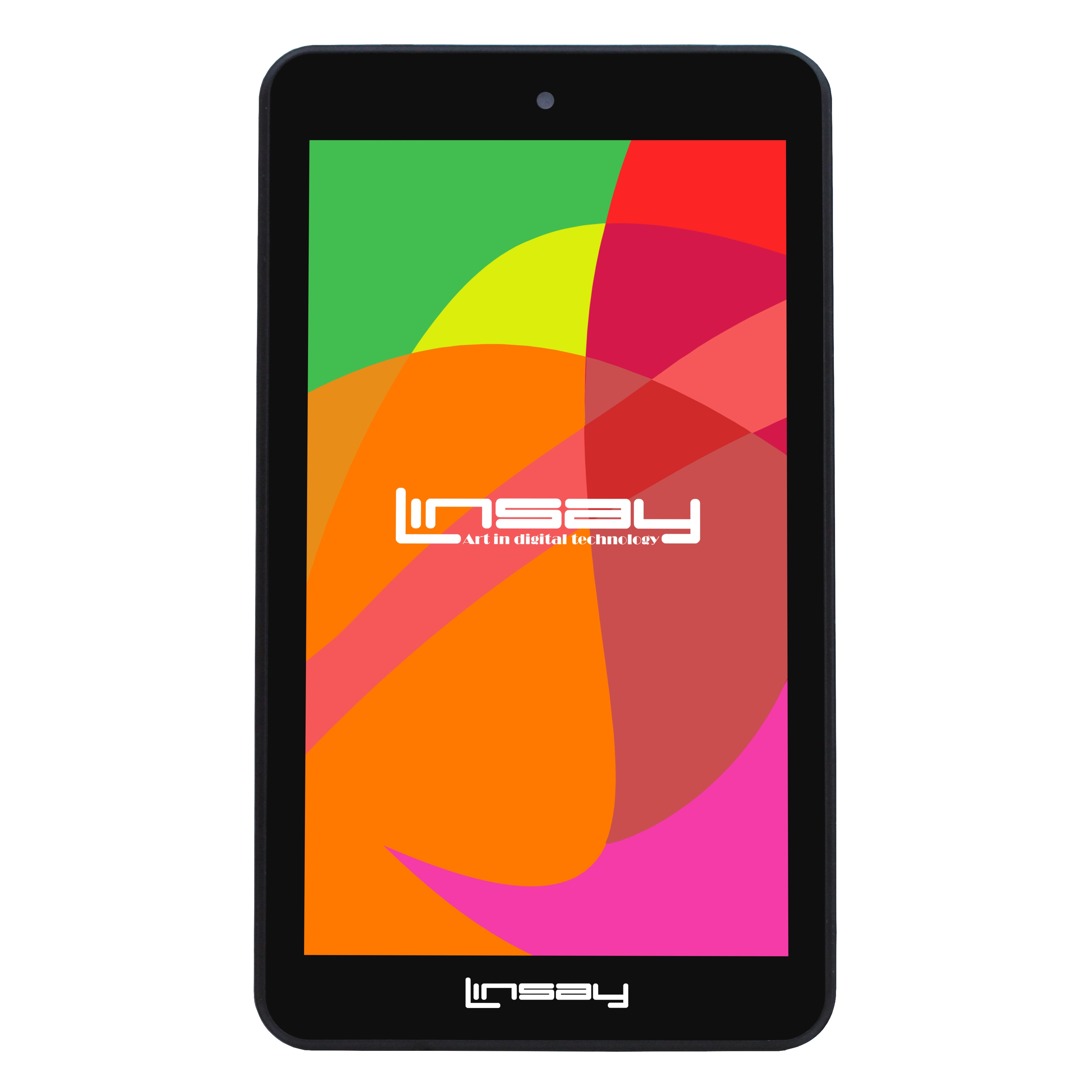 "LINSAY 7"" 1024x600 HD Touchscreen Quad-Core Dual-Camera 8GB Tablet PC Featuring Android 6.0 Operating System"
