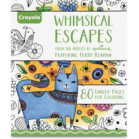Crayola Whimsical Escapes Adult Coloring Book 80 Pages