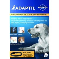 adjustable collar:24-7 calming and comfort M-L/Dog, Clinically proven to reduce stress related behavior By Adaptil