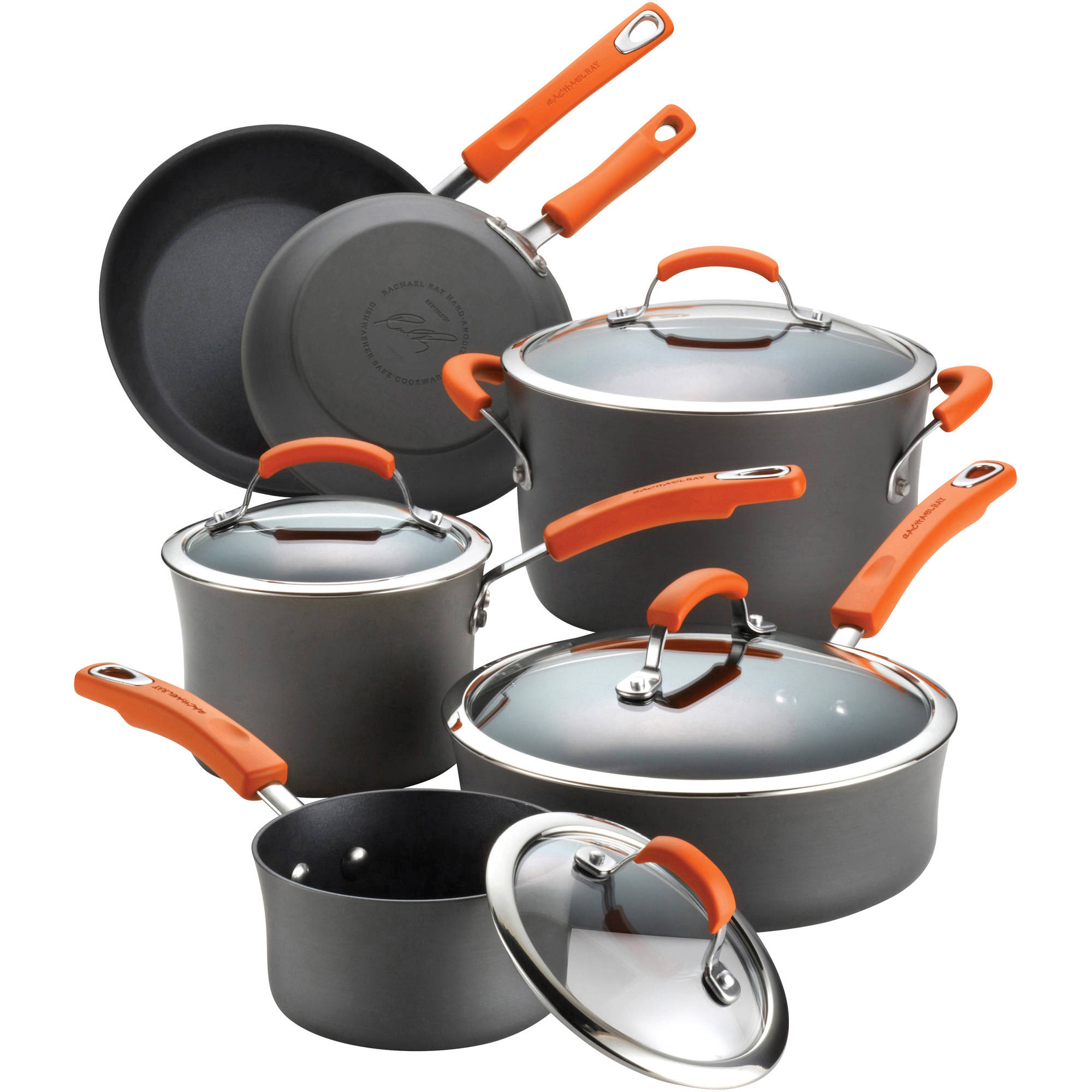 Rachael Ray Dishwasher Safe Hard Anodized 10-Piece Cookware Set