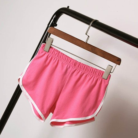 Canis Summer Pants Women Sports Shorts Gym Workout Waistband Skinny Yoga Short