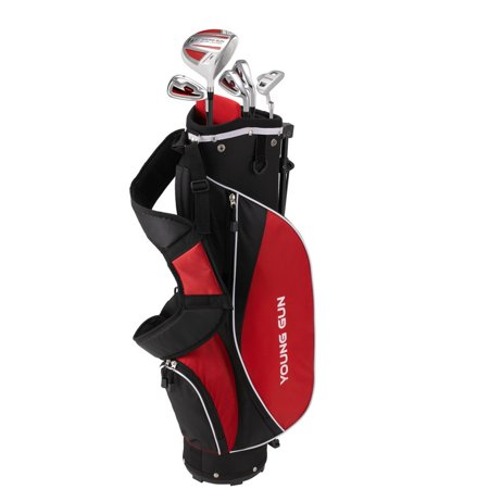 Young Gun Zaap Ace Red Junior Golf Club Youth Right Hand Set Bag For Kids