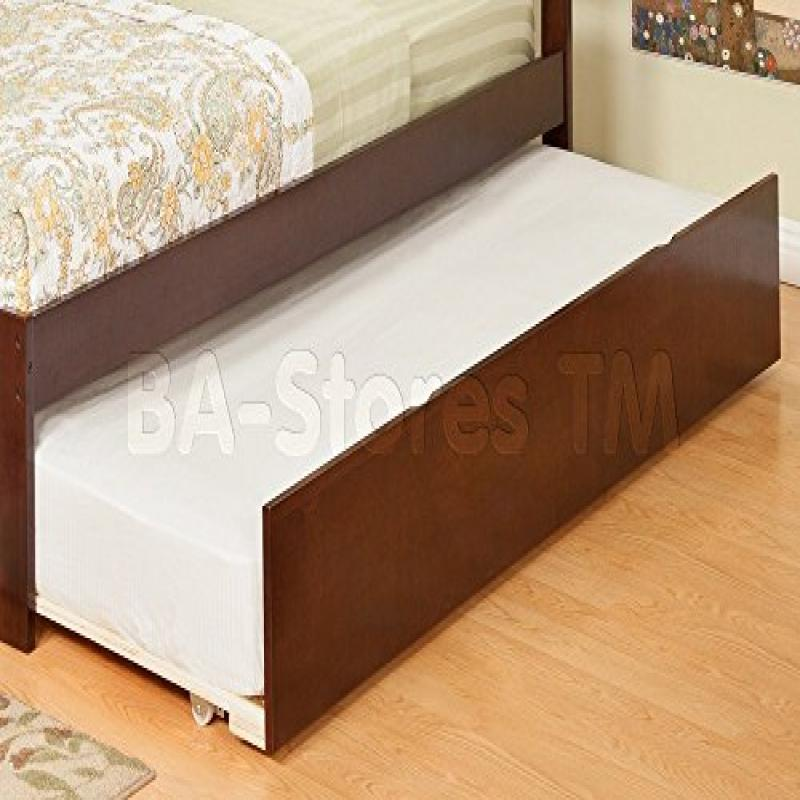 Urban Trundle Bed Twin Full Antique Walnut by Atlantic Furniture