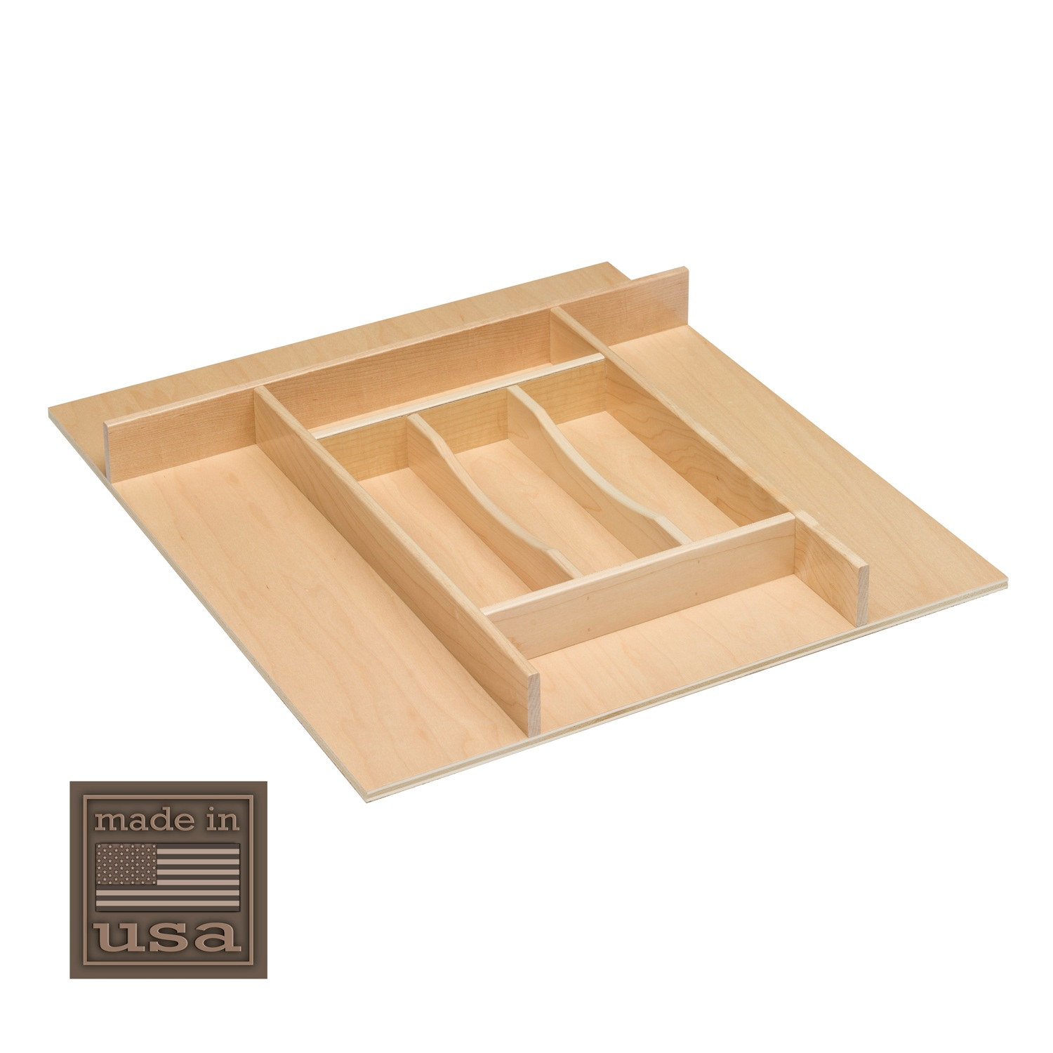 "Century Components TTKF20PF Wood Silverware Tray Drawer Organizer, 20"" x 22"" Trimmable by"