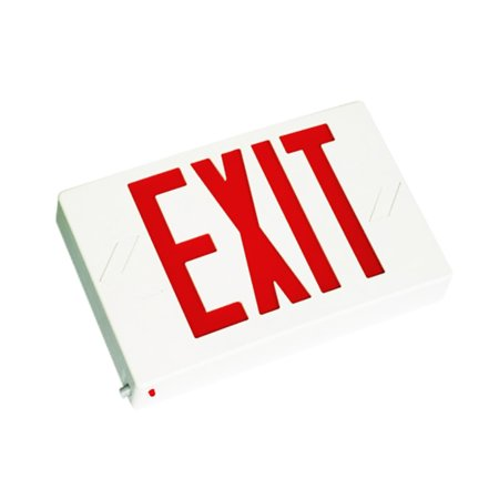 Led Exit Sign (eToplighting LED Red Exit Sign light With Battery Backup Lighting, WMLS2030)