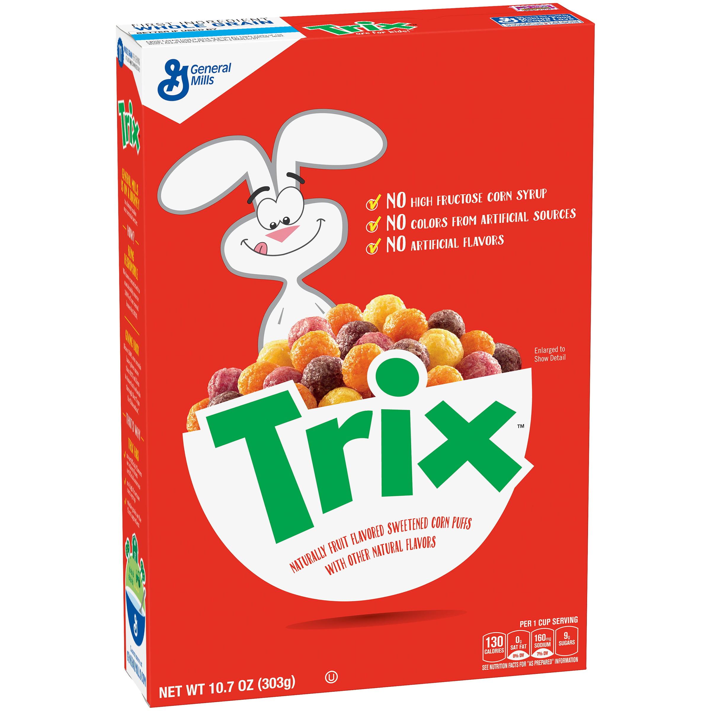 Trix cereal box back