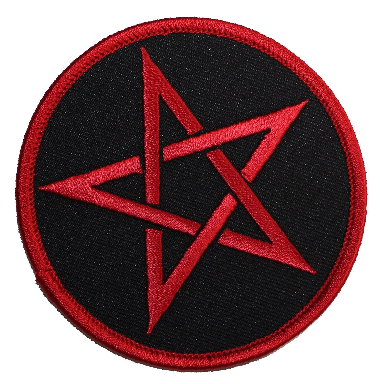 Pentagram Iconic Log PATCH - Officially Licensed Original Artwork, 3' x 3', Iron-On / Sew-On Embroidered Patch