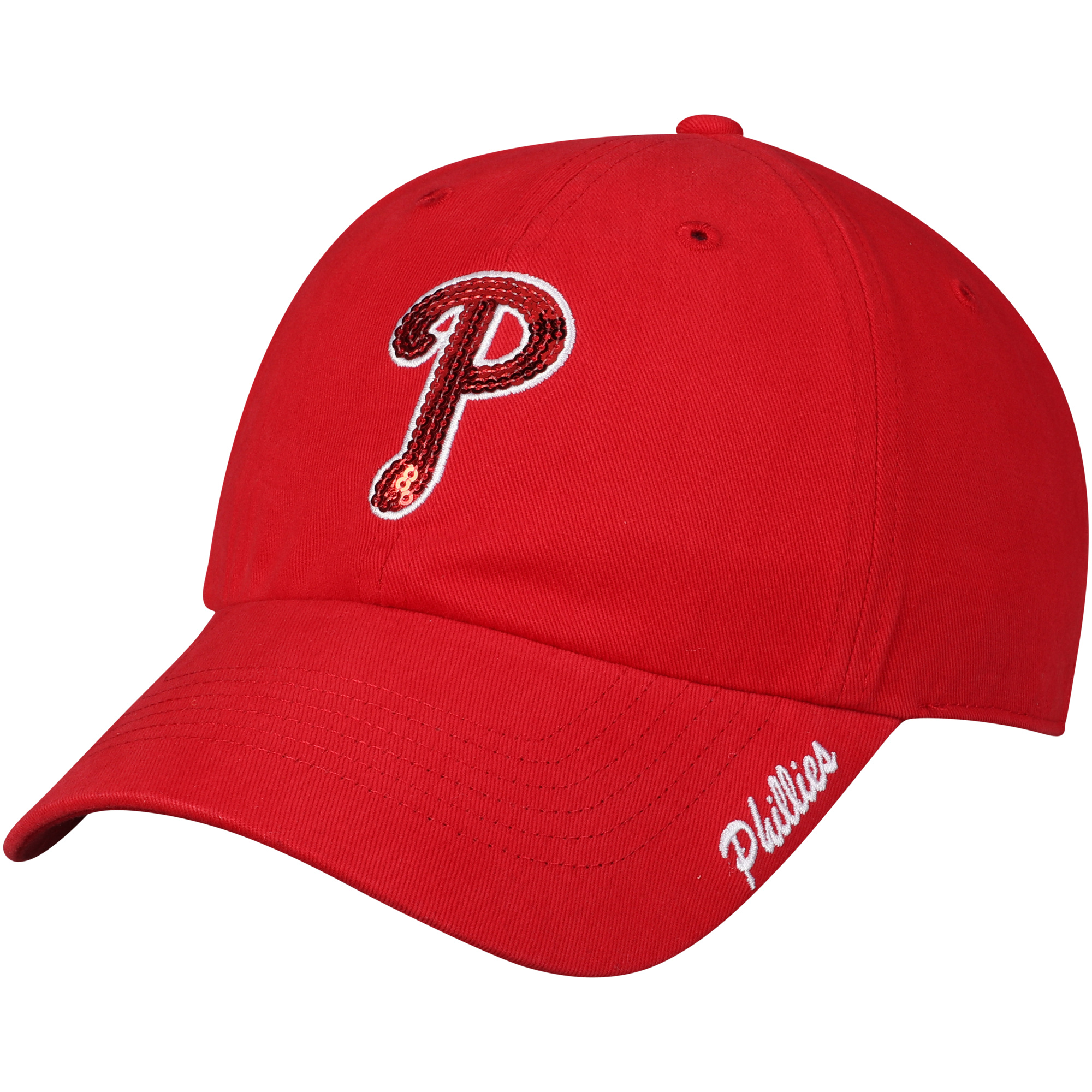 Women's Fan Favorite Red Philadelphia Phillies Sparkle Adjustable Hat - OSFA