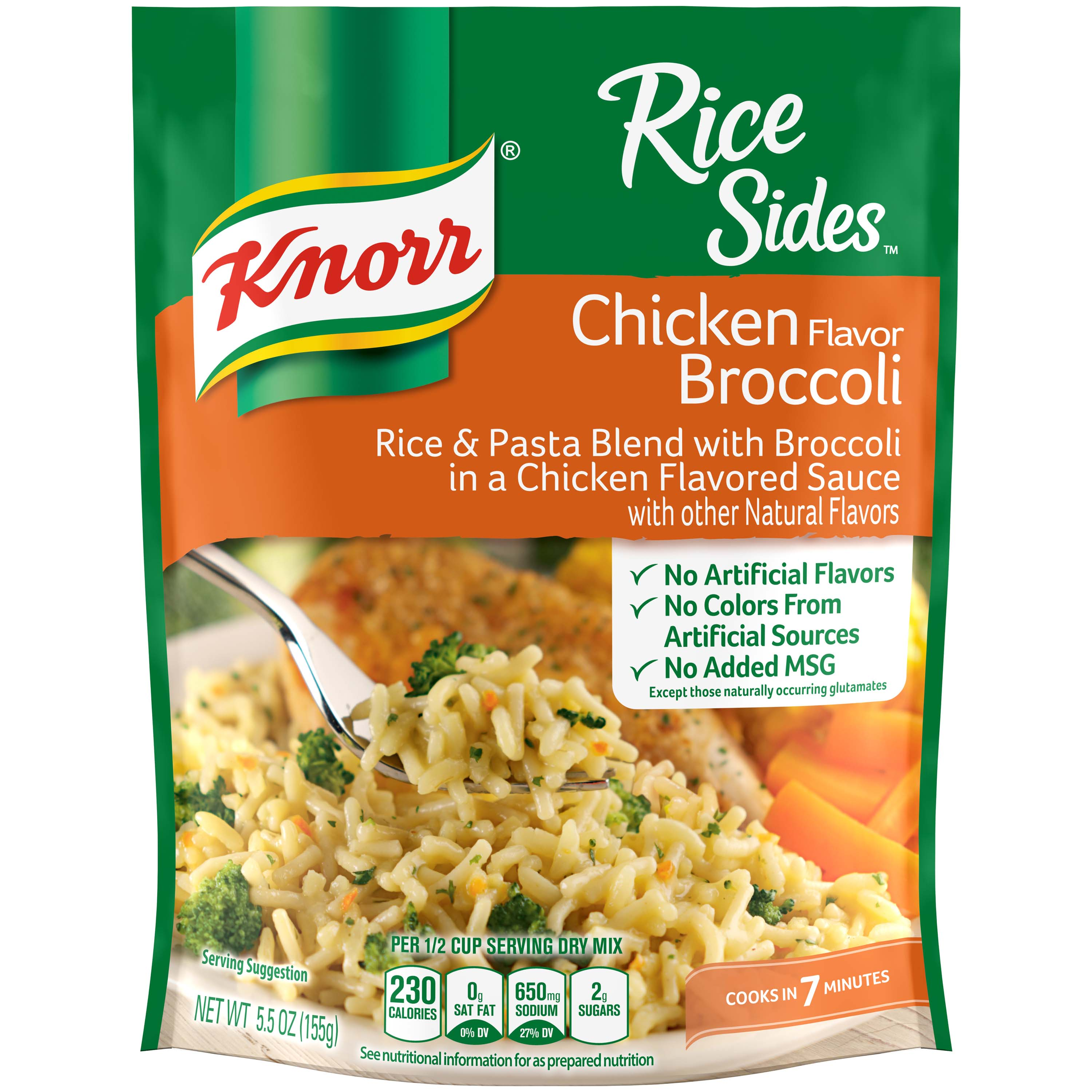Knorr Chicken Broccoli Rice Side Dish, 5.5 oz