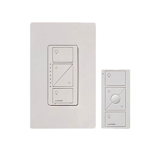 LUTRON Caseta Wireless Smart Lighting Dimmer Switch and Remote Kit White P-PKG1W-WH-R2