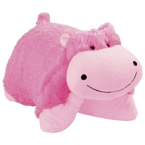 Pillow Pets Neon Pink Hippo Walmart Com