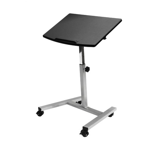 Seville Classics Tilting Mobile Laptop Desk Cart, Black