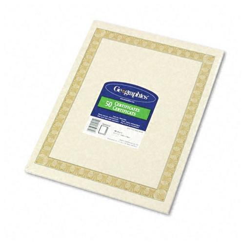 "Geographics Natural Diplomat Certificate - 11"" X 8.5"" - Inkjet, Laser Compatible (21015)"