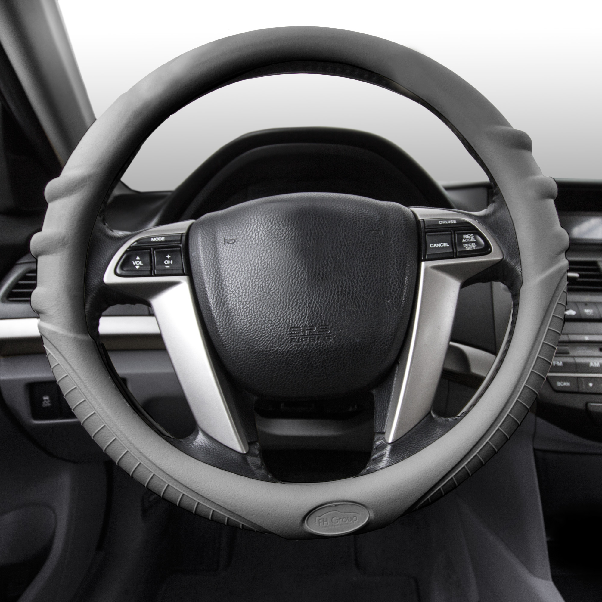 FH Group Silicone Steering Wheel Cover for Auto Car SUV Universal Fitment, 14 Colors