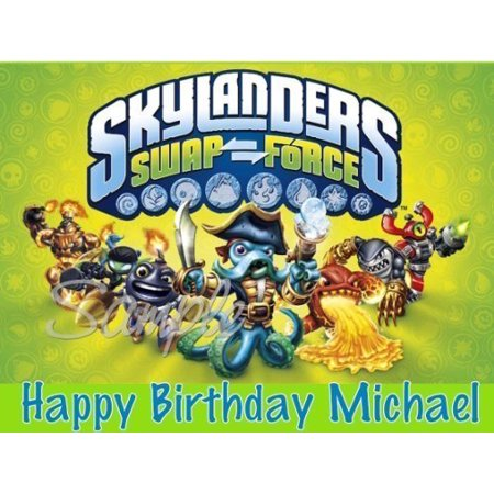 Skylanders Swap Force Edible Image Cake Topper - 1/4 Sheet by A Birthday Place for $<!---->