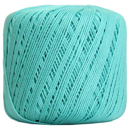 Threadart Crochet Thread - SIZE 3 - Color 22 - AQUA- 50 gram balls 140 yds - 3 Ball Bundle Packs ()