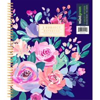 """Mintgreen Spiral Notebook, College Ruled, 3 Subject, 105 Sheets, 8.5"""" x 10.5"""", Color Choice Will Vary"""