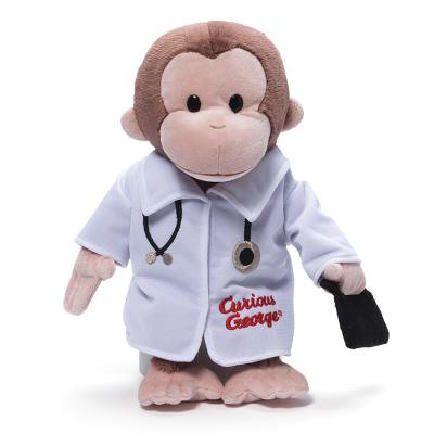 Gund Curious George Doctor - Curious George Doll
