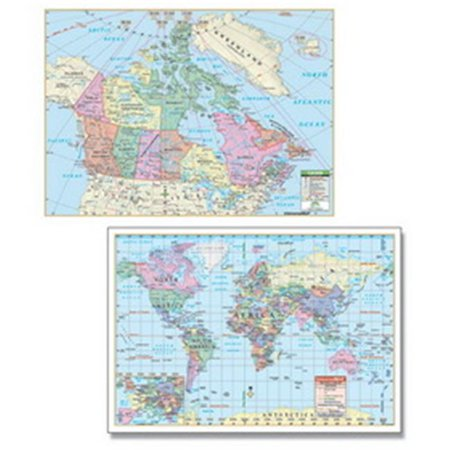 Complete Map Of Canada.Universal Map 27149 Canada World Rolled Map Combo Paper