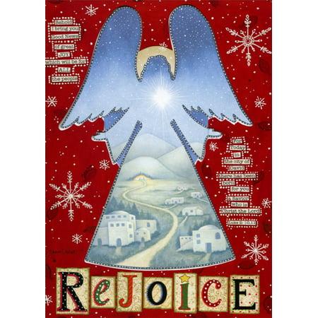 LPG Greetings Rejoicing Angel Cutout: Box of 12 Annie LaPoint Religious Die Cut Christmas -