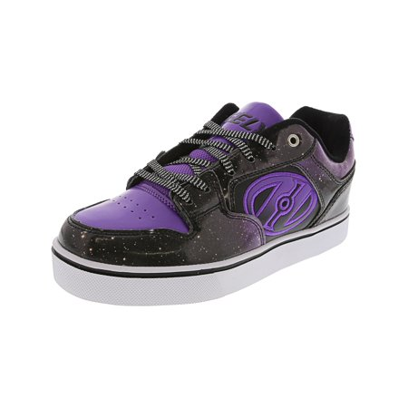 New Etnies Skateboarding Shoes - Heelys Motion Plus Black / Purple Galaxy Ankle-High Skateboarding Shoe - 3M