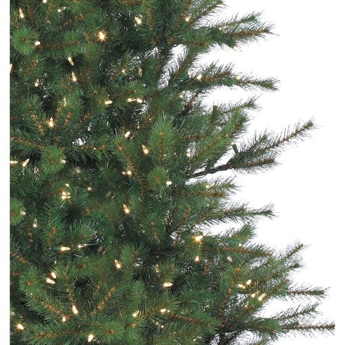 Fraser Hill Farm Pre-Lit 7.5' Southern Peace Pine Artificial Christmas Tree with Clear LED Lighting