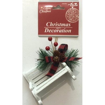 Ornaments In Bulk (New 378064  Hx Ornament Chair 3.5X2.9X1.8 White (24-Pack) Christmas Cheap Wholesale Discount Bulk Seasonal Christmas)