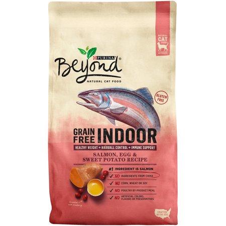Purina Beyond Indoor Grain Free Salmon  Egg   Sweet Potato Recipe Adult Dry Cat Food   3 Lb  Bag