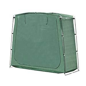 Bike Storage Unit - ALEKO SS70GR PE 64 Inch Tall Rectangular Space Saving Outdoor Bike Storage Tent, Green Color