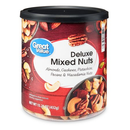 Fruit Nut Mix (Great Value Deluxe Mixed Nuts, 15.25 Oz)