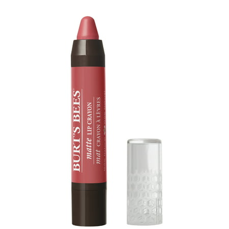 Burt's Bees 100% Natural Moisturizing Matte Lip Crayon, Niagara Overlook - 1 Crayon](Red Wax Lips)