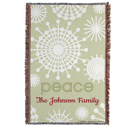 Personalized Robin Zingone Peace Throw Blanket