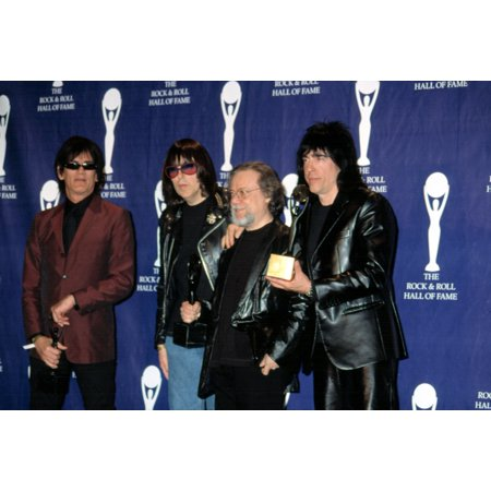 The Ramones Dee Dee Markie Johnny With Hilly Kristal At The Rock And Roll Hall Of Fame Nyc 3182002 By Cj Contino Celebrity