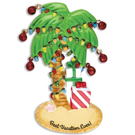 personalized christmas ornaments travel christmas palm tree kit