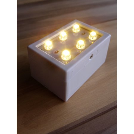 MoonBright 6-LED Luminary / Luminaria Bag Light, Warm White (Battery Powered) by - Luminary Bags Light