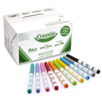 Crayola Fabric Markers, Fine Tip, Assorted Color, Pack of 80