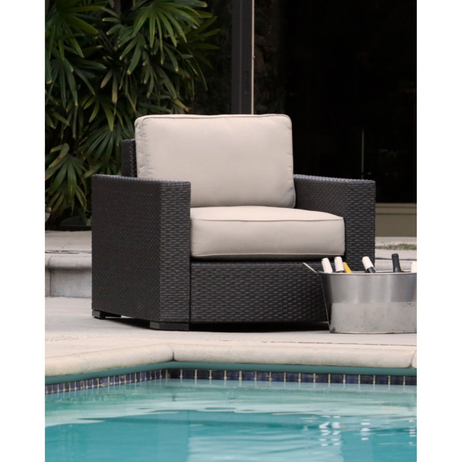 Serta Laguna Outdoor Arm Chair - Brown Wicker