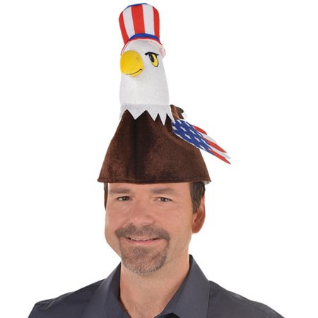 4th of July Bald Eagle Plush Hat (1ct)