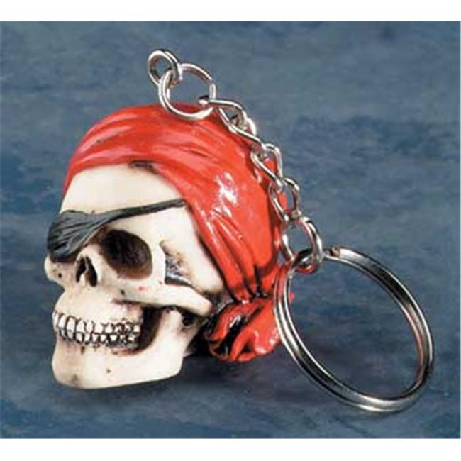 YTC SUMMIT 5832 Pirate with Bandanna Key Chain - Pack of 12 - C-36