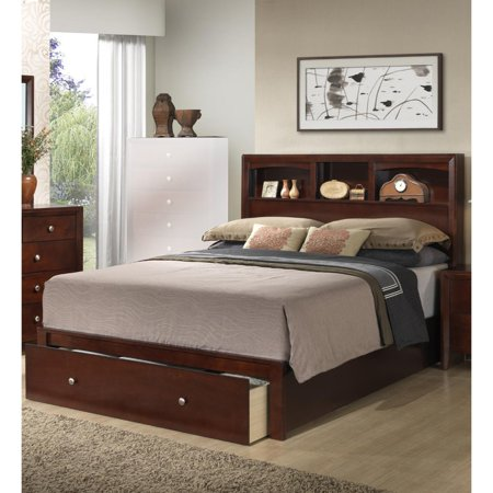 Classic E.King Wooden Bed With HB And FB Storage ()