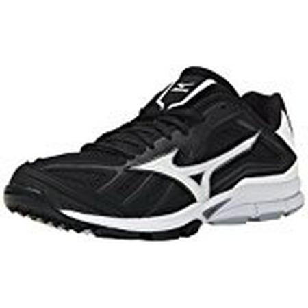 Mizuno Men's Players Trainer Turf Shoe, Black/White (9.5 D(M) US)