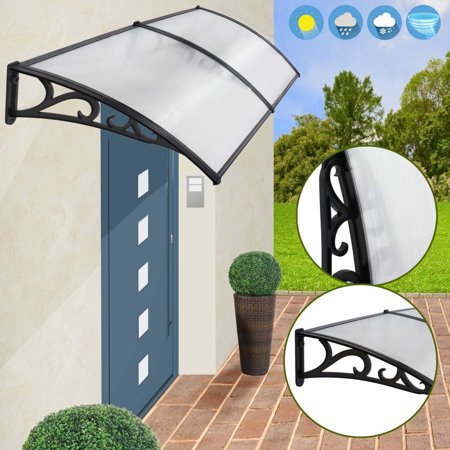 Zeny 40 80 Overhead Door Window Outdoor Awning Canopy Patio Cover Modern Polycarbonate Rain Snow Protection