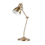 """Euro Style Collection Lyon 18"""" Modern Industrial Table Lamp-Brass"""