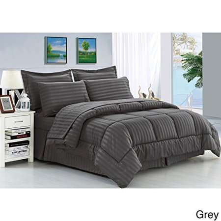 Cozy Home Down Alternative 5 Piece Embossed Comforter Set - Grey (King) ()