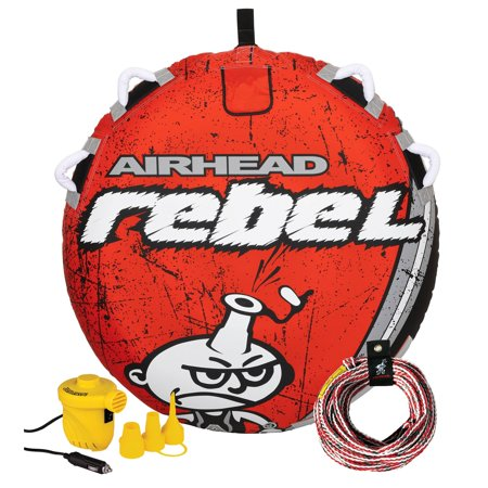 Airhead Rebel 1 Person Towable Tube Kit w/ Airhead 60-Foot Towable Rope Ball - image 6 of 12