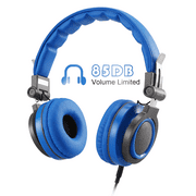 AGPTEK Headphones for Kids, 85dB Volume Limit , Adjustable & Foldable Earphones, Blue
