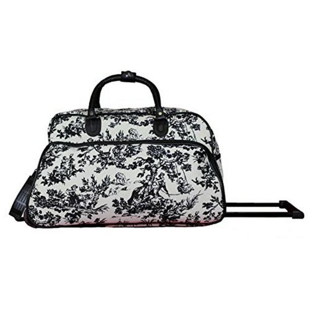 World Traveler 21 Inch Carry On Rolling Duffel Bag Countryside White Walmart Com Walmart Com